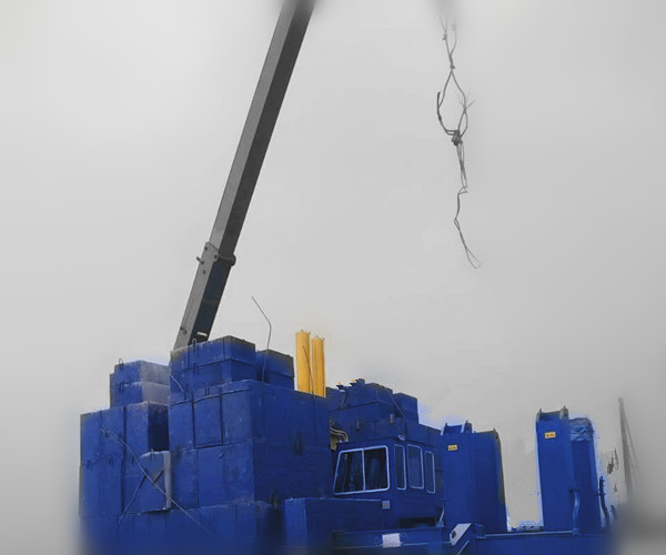 VY600A Hydraulic noiseless Static Pile Driver four Lifting Mechanism