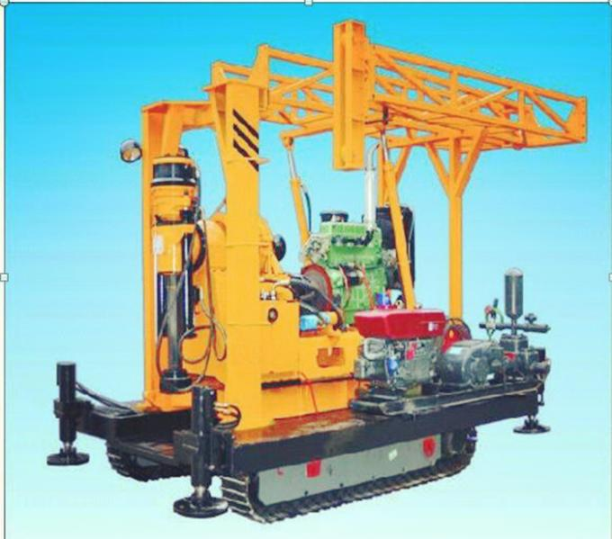 High Frequency Crawler Core Drilling Rig Four Hydraulic Jacks 350m Drilling Depth