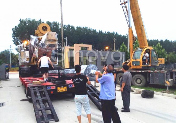 Yellow Rotary Drilling Rigs with cummins engine max drilling depth 32m / Max output torque 100 KN.m