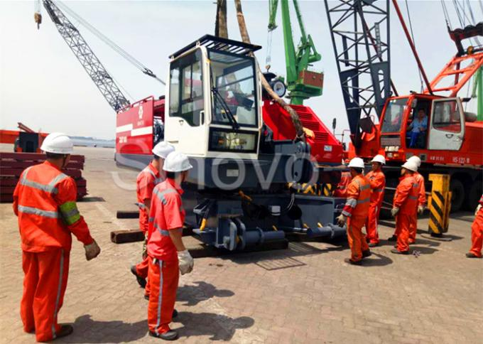 360° Turning Hydraulic Telescopic Crawler Crane , Max 100T Lifting Capacity