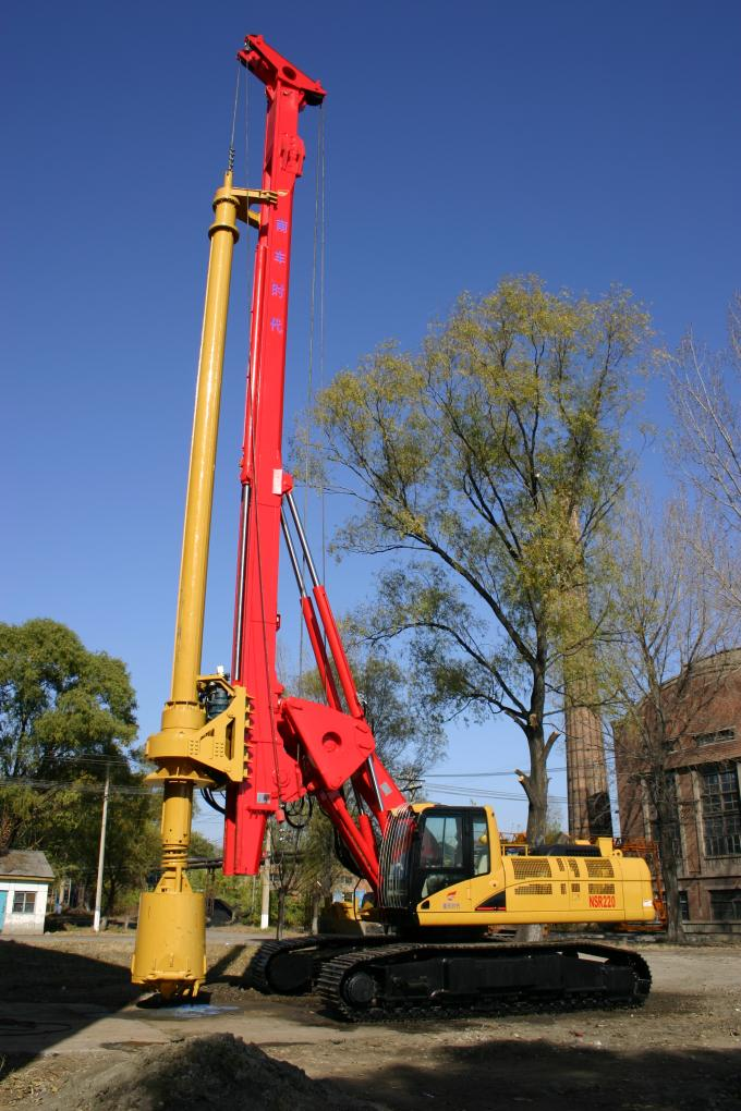 Rotary Drilling Rigs TR220 Technical Specifications Max drilling depth  60-66m Whole machine weight  65T