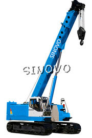 China 3m Lifting range Hydraulic Crawler Crane for piling , 1.79rpm Slewing speed supplier