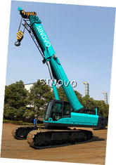 China Telescopic Hydraulic Crawler Crane with Cummins Engine , 0 ~ 2.0 r/min Slewing speed supplier
