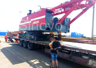 China Red Color Low Ground Pressure Hydraulic Crawler Mounted Crane For Chemical Industry supplier