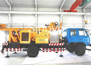 China Multi-functional Full Hydraulic Waterwell Drilling Rig , drilling Depth 650m supplier