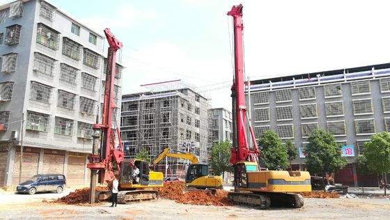 China TR100 Rotary Hydraulic Drilling Rig For Foundation Engineering Max Output Torque 100 KN.M supplier