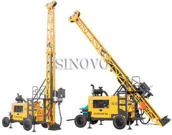 China Full hydraulic-mounted Geological Drilling Rig Diesel Engine With Flexible Operating System supplier