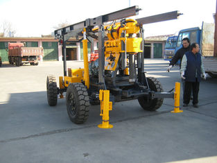 China Hydraulic Jack Geological Drilling Rig Light Weight Torque Transfer Trailer supplier
