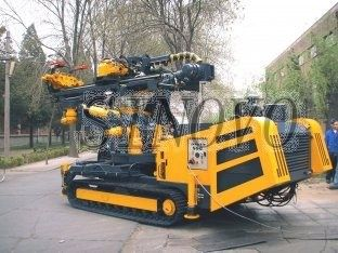 China Double Motor Lifting Force 50KN With High Rotation Speed Hydraulic Crawler Drills supplier