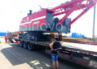 China Red Color Low Ground Pressure Hydraulic Crawler Mounted Crane For Chemical Industry company