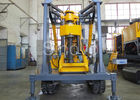Yellow Spindle Crawler Core Drilling Rig , Drilling Diameter 75 - 800mm