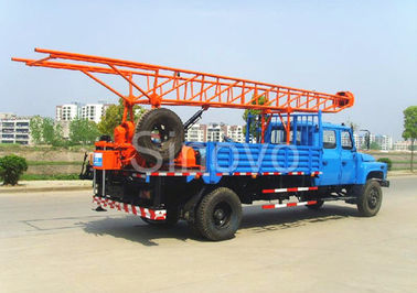 Portable Mobile Core Drilling Equipment , Drill Depth 100m Truck Mounted Drilling Rig