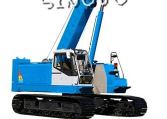 3m Lifting range Hydraulic Crawler Crane for piling , 1.79rpm Slewing speed